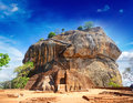 Sigiriya rock fortress, Sri Lanka. Royalty Free Stock Photo