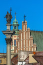 Sigismund column warsaw the old town complex includes medieval buildings and fortifications the royal castle the royal square st Royalty Free Stock Photos