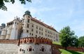Sigismund III Vasa Tower and defensive walls in Wawel castle Royalty Free Stock Photo