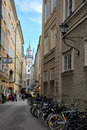 Sigmund Haffner Gasse (street) in Salzburg Royalty Free Stock Photo