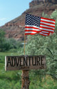 Sign for Adventure Ranch Royalty Free Stock Photos