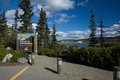 Sign along the Yukon River welcoming visitors to Whitehorse Royalty Free Stock Photo