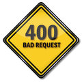 Sign bad request computer Royalty Free Stock Photos