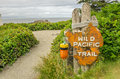 Sign at the beginning of a trail wild pacific ucluelet vancouver island canada Royalty Free Stock Images