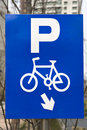 Sign: bicycle parking Stock Image