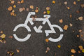 Sign Bicycle path Royalty Free Stock Photo