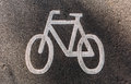 Sign of  bicycle path Royalty Free Stock Photo