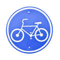 Sign of a bike. Royalty Free Stock Photo