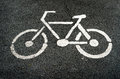 Sign of Bike lane Royalty Free Stock Photo