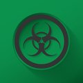 Sign biological hazard illustration flat icon design Stock Photos