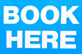 Sign of book here white isolated on light blue background concept photo travel tourism vacations destinations attractions Stock Image