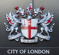 Sign of the city of London Stock Images