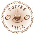 Sign of coffee time Stock Photography