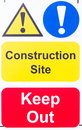 Sign 'Construction Site Keep Out' Royalty Free Stock Photo