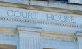Sign for courthouse Royalty Free Stock Photo
