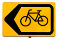 Sign for cyclists indicating a traffic diversion Stock Photo