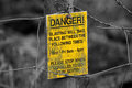 Sign danger explosives Royalty Free Stock Photo