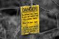 Sign danger explosives Royalty Free Stock Photo