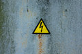 Sign of danger high voltage symbol Royalty Free Stock Photo