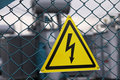 Sign dangerously electricity Stock Image
