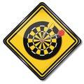 Sign darts game Royalty Free Stock Photo