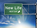 Sign depicting change life style ahead Stock Images
