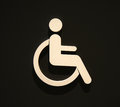 Sign disabled icon isolated on black. Royalty Free Stock Photo