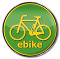 Sign e bike an muscle strength Royalty Free Stock Photos