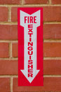 Sign for Fire Extinguisher Royalty Free Stock Photo