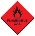 Sign Flammable Gas in Vector