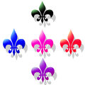 Sign flower ornament lily this decorative element and and isa a stylized in french or iris that used as decorative design Royalty Free Stock Image