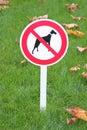 Sign forbid walk dogs Royalty Free Stock Photo