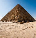Sign Giza Pyramid Khufu Cheops Base Stock Image