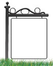 Sign on the grass photo frame an illustration of a transparent of an outdoor created in photoshop Stock Images
