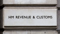 Sign for HM Revenue and Customs Stock Images