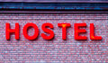 Sign of the hostel Royalty Free Stock Photo