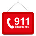 911 sign Royalty Free Stock Photo