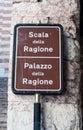 Sign indicating  Palace of reason Royalty Free Stock Photo