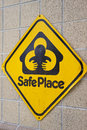 Sign indicating a safe place. Royalty Free Stock Photo