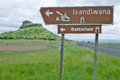 Sign for isandlwana battlefield the scene of the anglo zulu battle site of january the great battlefield of isandlwana and Stock Photography