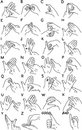 Sign language Stock Image