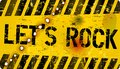Sign let s rock grungy style vector illustration Royalty Free Stock Photography