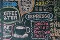 Sign menu coffee and tea Royalty Free Stock Photo