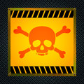 Sign of the mortal danger vector illustration Stock Photos