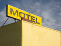 Sign on motel rooftop Royalty Free Stock Photo
