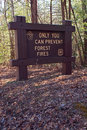 Sign in National Forest Smokey the Bear says... Royalty Free Stock Photo