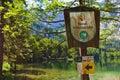 Sign nature reserve austria langbathsee salzkammergut Stock Photos