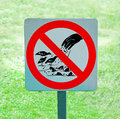 The sign of no feeding bird and fish Royalty Free Stock Photo