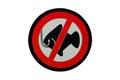 Sign no fishing Stock Photos