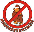 Sign no monkey business Royalty Free Stock Photo